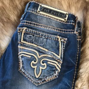 Rock Revival Cropped Jeans